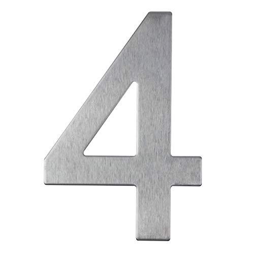 Hausnummer aus Edelstahl selbstklebend – Höhe 10 cm – Straßennummer – Design Hausnummer (4)