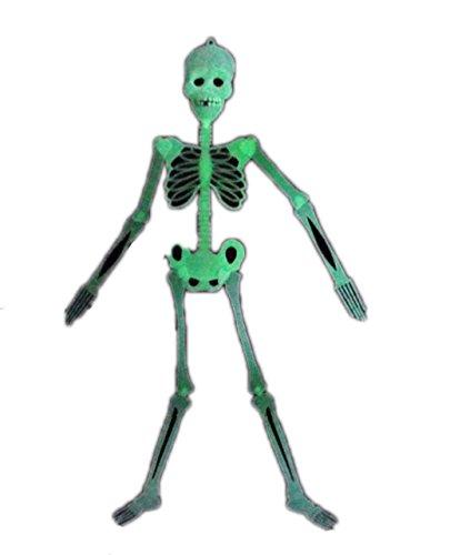 Cosplayne 暗闇で光るガイコツ! 2個セット ハロウィン 肝試し イベント 装飾 パーティーグッズ 骸骨 お化け スケルトン ボーン ホラー スカル ドクロ 演出に (90cm, 2個セット) S105