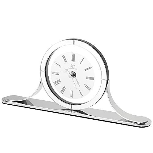 TIMETRACE 현대 유리 벽난로 시계 책상 시계 거실 벽난로 사무실 책상에 대 한 벽난로 시계 고급스러운 선물