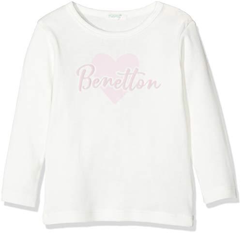 UNITED COLORS OF BENETTON T-s M/l Logo Cuore Pull sans Manche, Multicolore (Bianco/Rosa 074), (Taille Fabricant: 50) Bébé garçon