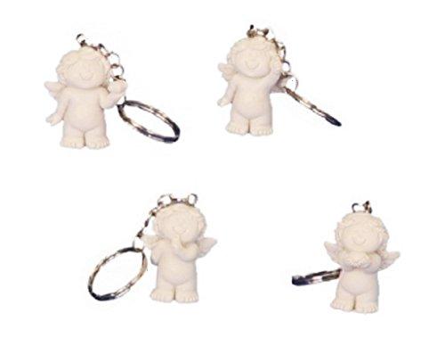 Unbekannt 24 x Babyengel Schlüsselanhänger Schlüsselband Polystein
