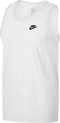 Nike M NSW Club Embrd Ftra, Canotta Uomo, Bianco/Nero, L