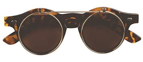 Labreeze Sonnenbrille, Vintage-Stil, rund, zum Hochklappen, Steampunk, Retro-Stil