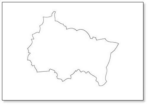 Grand-Est - Imán para nevera con diseño de mapa de la región de Francia