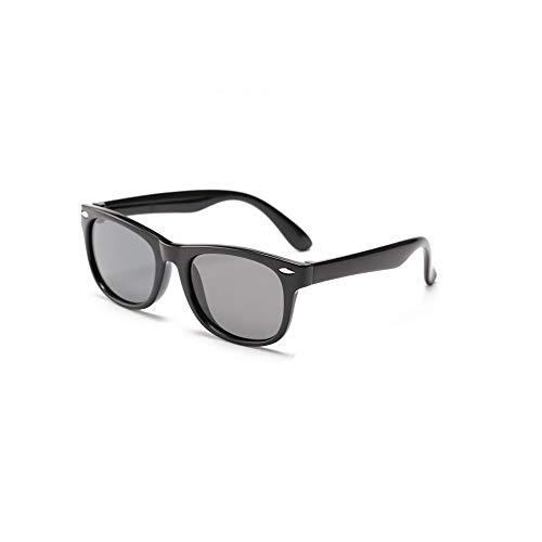 Suertree Polarisierte Sonnenbrille Kids Square Silikon Flexible Anti UV 400 Brille Jungen Mädchen Anzug für 3-12 Jahre Black frame