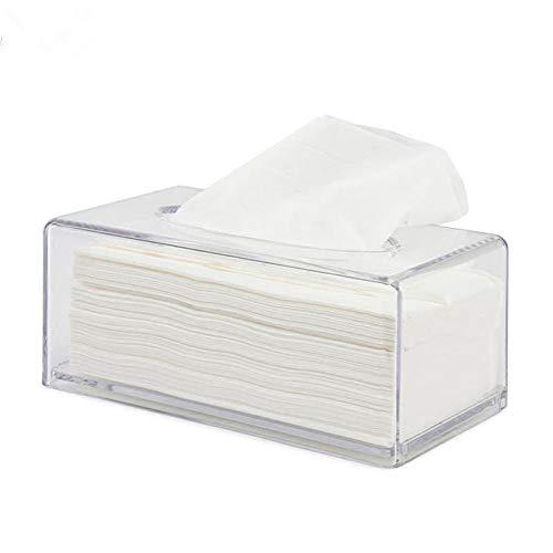 Mu Mianhua - Caja de pañuelos de acrílico transparente con dispensador de servilletas para el hogar, oficina, coche