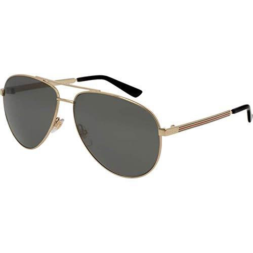 Gucci GG0137S-002 gafas de sol, Dorado, 61.0 para Mujer