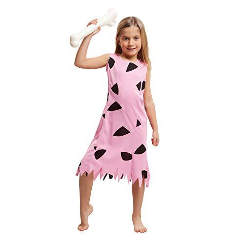 My Other Me Me-203515 Disfraz de troglodita para nia, color rosa, 5-6 aos (Viving Costumes 203515)