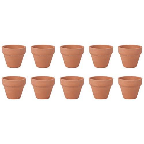 PRETYZOOM Pots en Terre Cuite Pot pour Plantes Mini Terre Cuite Terre Cuite -10 Pcs Pot de Fleur Fleur de Cactus Petit Pot de Fleur Succulent Pot en Terre Cuite-Planteur pour Mariage de