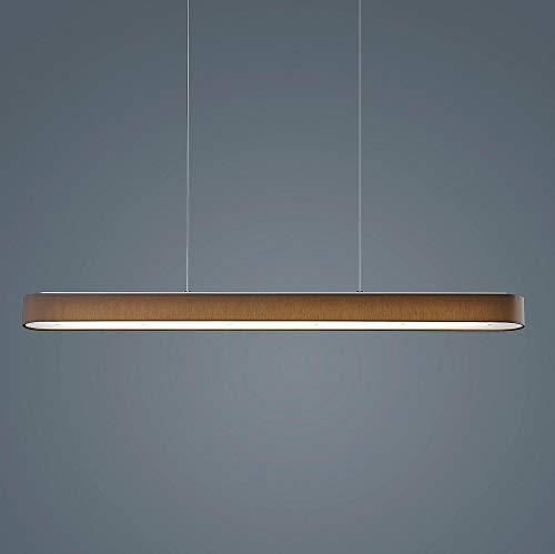 Bora LED Pendelleuchte 101,5cm, mokka Schirm Chintz Gestell mattnickel eloxiert 2800K 3300lm