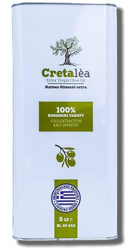 Cretaléa Extra Natives Olivenöl aus Kreta, Griechenland - 5l Kanister - Kaltgepresst aus Koroneiki-Oliven - Neue Ernte - Säuregehalt ~ 0,4 {ef237dcc6eef98d0c7a32cdd9e8abf53116b5240edf7967dcccebe45533a640d}