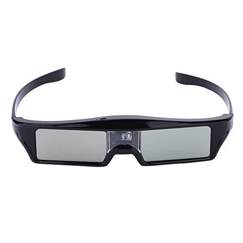 3D Glasses, DLP Active Shutter 3D Glasses for DLP-link Projector Home Theater USB Charge Active 3D Glasses