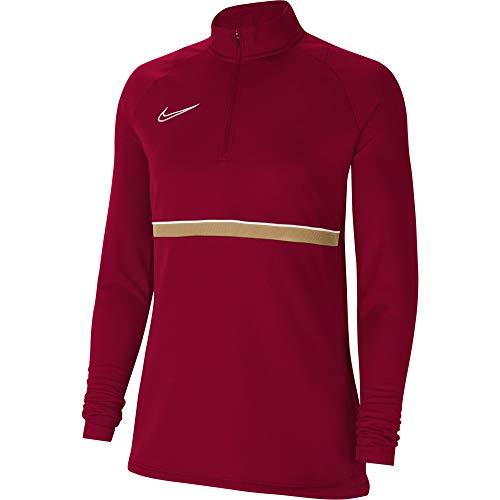 Nike Damen Women's Academy 21 Drill Top, Team RED/White/Jersey Gold/White, CV2653-677, S