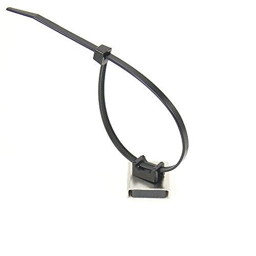 First4magnets CP2623CT-10 Magnetische Kabel Krawatte montieren 26 x 23 x 6,3 mm dicken 6,1 kg ziehen (Packung mit 10), silver, 25 x 10 x 3 cm
