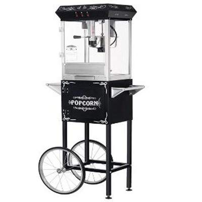 Fantastic Prices! MISC 6096 8-oz Foundation Popcorn Machine and Cart Glass