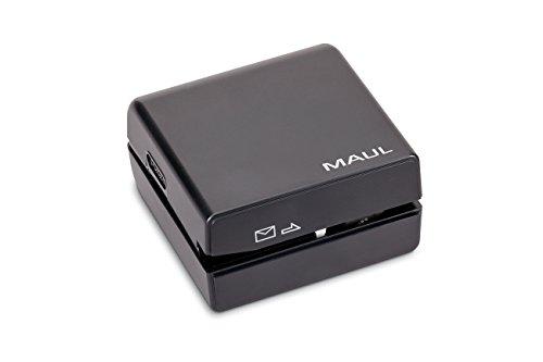 Maul Brieföffner elektrisch, Schnittbreite 2,5mm, incl. 4 Batterien, schwarz