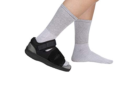 FitPro Adjustable Post-Op Open Square Toe Shoe- Women's, Large, Amazon Exclusive Brand