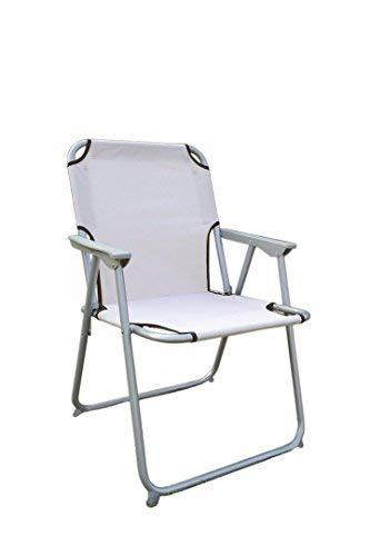 Spetebo Piccolo Klappstuhl in beige - praktisch und bequem - Ideal für unterwegs!