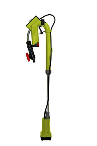 Baricus Akku-Wasserpumpe 12V inkl. Akku u. Ladegerät, Förderhöhe bis zu 11 m, Pumpleistung bis zu 1500l/h, Höhenverstellbar, integrierter Filter, ideal für Bewässerungs- oder Absaugarbeiten, B-Ware