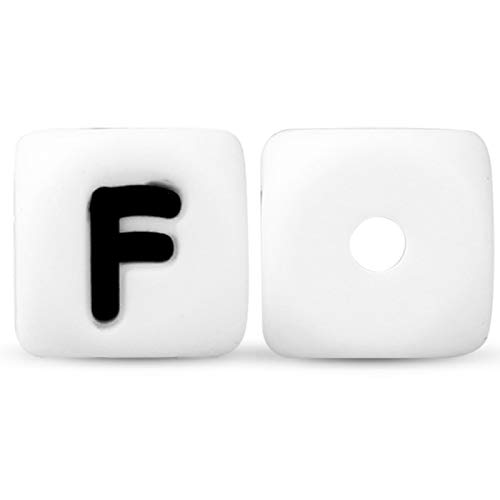 Cuentas de silicona con letras de 12 mm, letras del alfabeto inglés, personalizables, para manualidades, roedores, colgantes de dientes de bebé, 20/40/150/300/600/1000 unidades, 20 unidades