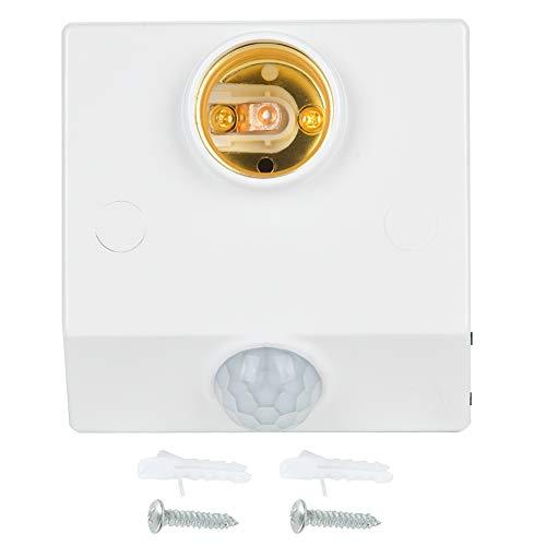 Interruptor de movimiento del sensor de infrarrojos E27 Enchufe del sensor de movimiento Detector de movimiento de larga vida útil ajustable Accesorios industriales para electrodomésticos