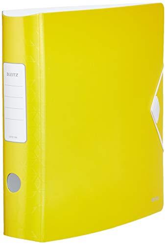 Leitz 11060016 mappen Active A4, geel, gebogen, 75 mm breed, elastische sluiting, polyfoam, licht, WOW, Serie 11060016