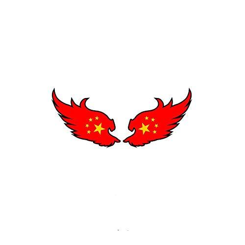 SHUNHUI Etiqueta Engomada del Coche 3D Bandera China Tridimensional Etiqueta Engomada del Coche Bloque De ArañAzos Puerta Trasera del Coche DecoracióN De La Bandera Roja Reflectante (2 Pares)