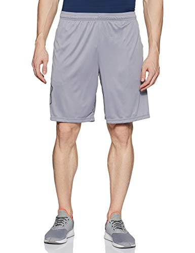 Under Armour Tech Graphic Short Pantalón Corto, Hombre, Gris (Steel/Black), XL