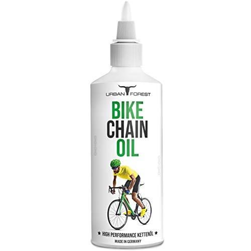 Olio lubrificante per catena per bicicletta professionale | Olio per bicicletta per ciclismo & E-Bike | Pulizia catena e protezione catena | Bike Chain Oil di Urban Forest 100 ml