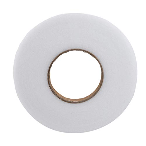 Hem Tape Adhesive Fabric Fusing Iron-on Tape Dokpav 2 Rolls 140 Yards 25mm Hemming Tape Fabric Fusing Tape Adhesive Hem Tape Iron on Tape Hemming Web for Trousers Clothes Jeans Garment Curtains