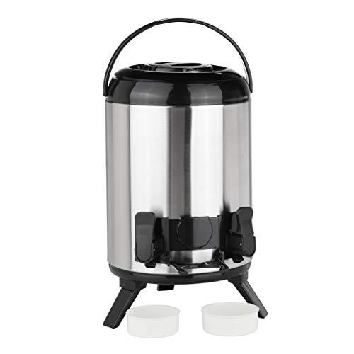 HI Termo para mantener el calor Airpot con grifo – Jarra térmica de 9 litros con grifo, jarra de acero inoxidable para café, té o vino caliente