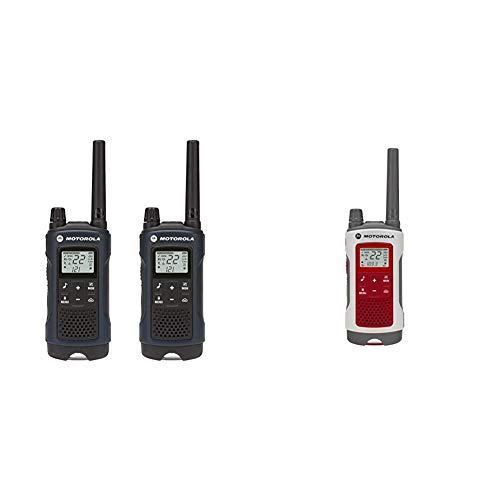 Motorola Talkabout T460 Rechargeable Two-Way Radio Pair (Dark Blue)...