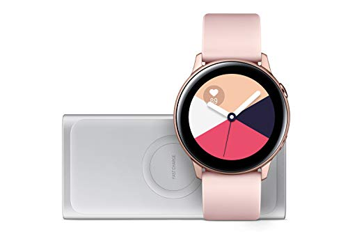 Samsung Galaxy Watch Active, Rose Gold + Induktive Powerbank, Silber