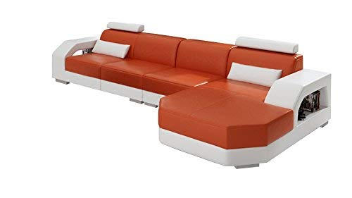 Designer Ledersofa Ecksofa Wohnlandschaft Couch Sofa Garnitur Neu Modell LINZ II