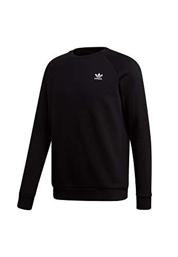 Adidas Trefoil Essentials C, Felpa Uomo, Nero (Black), M