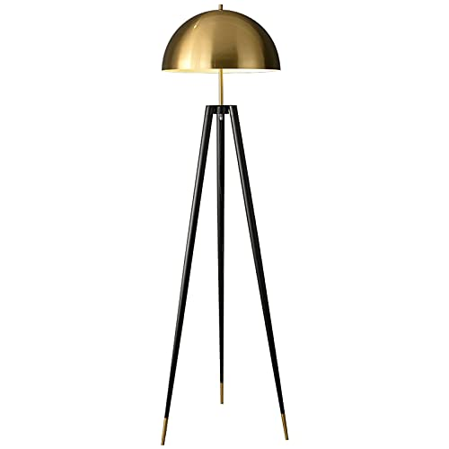 Lámpara de pie Lámpara de pie de mediados de siglo Moderna, trípode para sala de estar - Luz de pie con tambor contemporáneo Matches Dormitorio Decoración - Lámpara con bombilla LED Adecuado para dorm