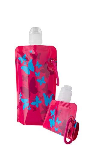 Vapur – Botella de Agua para niños, 0,4 L, sin BPA, a Prueba de Fugas, Reutilizable, Plegable, Flexible, Plegable, Plegable, Plegable para niños
