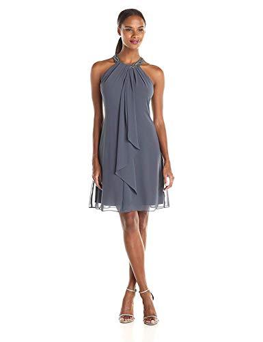 S.L. Fashions Women's Jewel Neck Sh…