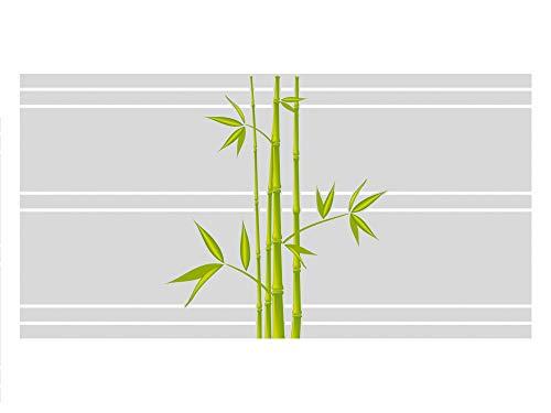 GRAZDesign Sichtschutzfolie Fenster Bambus, Klebefolie Fenster Wellness, Glasfolie Bad, Fensterfolie Badfenster / 110x57cm