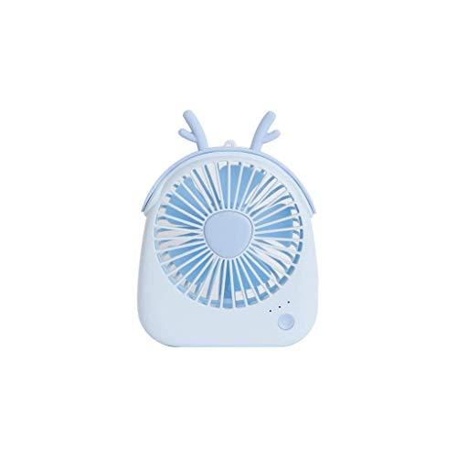 NGXIWW Mini-ventilator, draagbaar, kabel, 4 inch, creatief dier-design, 3 snelheden, verstelbare ventilator, milieuvriendelijk, kantoor, thuis, sport in de open lucht