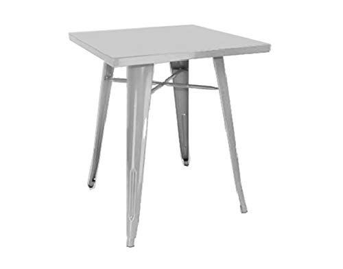 PEGANE Table en tôle galvanisée Coloris Ivoire - Dim : 40 x 60 x H.73 cm -A Usage Professionnel