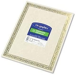 - Foil Stamped Award Certificates, 8-1/2 x 11, Gold Serpentine Border, 12/Pack
