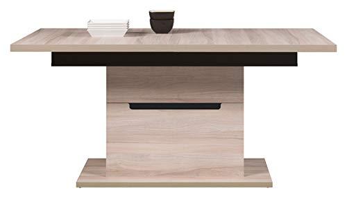 Lancashire Furniture Extendable Dining Table in Elm Matt & Black Colour