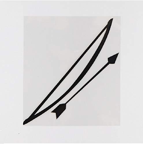 Jinling 14,5 cm x 17 cm arco y flecha patrón de armas pegatinas decorativas negro adapttic negro/plateado (Color: 1)