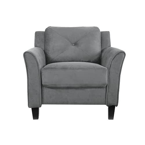 Lifestyle Solutions Harrington Chair in Grey, Dark Grey
