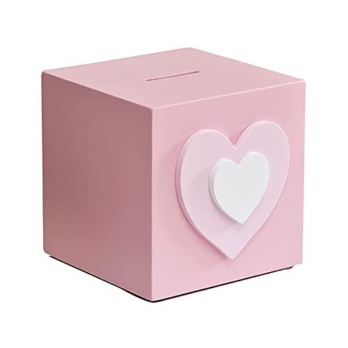 XXZY Banco de Monedas de la Moneda Linda de la Hucha Banco de Dinero de Moda para niños Adulto Cumpleaños Decoración del hogar Gran Capacidad (Color : Pink)