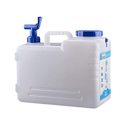 Bidon Garrafa Plastico Alimentario 15L / 21L litros con Grifo, PE Agua De La Emergencia del Barril del Envase del Agua Puede, Acampan Al Aire Libre, Turismo, Hogar, Fábrica, Campos Agrícolas JNCSX