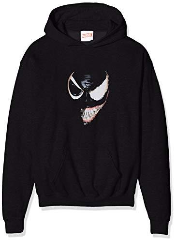Marvel Jungen Universe Venom Split Face, Schwarz (Black Blk) 9-10 Jahre (Herstellergröße: 9-11y)-Kapuzenpullover