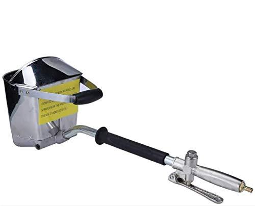 S SMAUTOP 4 Jet Yeso y Pulverizador de Estuco, Pistola de Mortero de Cemento Neumática Con Cubierta,Rociador de Mortero Para Pintar Paredes o Techos