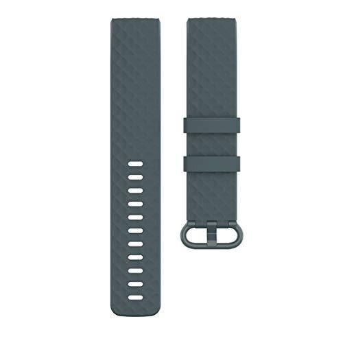 Ixkbiced Kleines Ersatz-TPE-Armband für Fitbit-Charge 3 4 Smart Sports Watch Armband